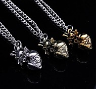 Heart Shaped Necklace Real Heart Pendant(1 Pc)