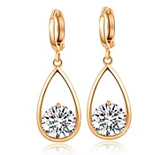 Woman's Fashion Droplets Gilded Crystal Ear Clip