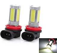 Marsing High Power H11 25W 6500K 1800lm 5-COB LED Cool White Car Head Light / Foglight (12~24V / 2 PCS)