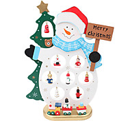 Wooden Snowman Furnishing Articles Gifts