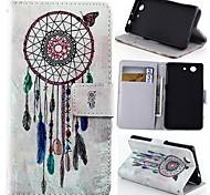 бумажник стиль перезвон ветра искусственная кожа полное покрытие тела с подставкой для Sony Xperia z3 мини