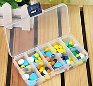 10 Grid Multi-function Medicine Box Fish Box(Random Color)