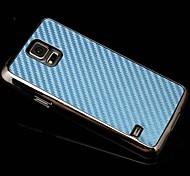 estuche rígido de fibra de carbono chapada galvanoplastia para i9600 Samsung Galaxy S5