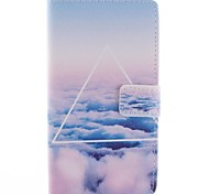 Only Beautiful Cloud Design PU Leather Full Body Case with Stand for Sony Xperia T3