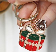 Personalized Christmas Gift Box Keychain