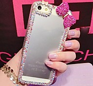 5.5 Inch Colorful  Border with Diamond Hard Back Cover for iPhone 6 Plus(Assorted Colors)