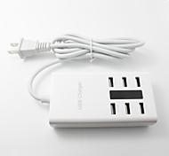 5v 7,2 ampères (36 watts) 6 portas família porte usb carregador de mesa para iphones ipads ipods samsung telefones Galaxy Tab tablets