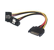 90Degree 1 in 2 SATA Male to Female Data Cable
