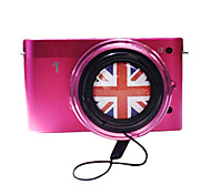 40.5mm/49mm Cute Cartoon Lens Cap with the Union Jack Pattern