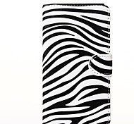 Attractive Zebra Style Pattern PU Leather Full Body Cases with Stand for Galaxy Samsung Note 3 Lite N7505