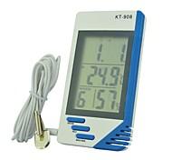 kt908 multifuncional Indicación de la temperatura interior y exterior electrónico y tabla de humedad