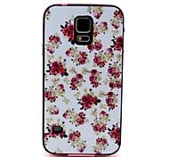 2-in-1-Pfingstrose Muster TPU rückseitige Abdeckung mit pc autostoßfest weiche Tasche für Samsung Galaxy S5 i9600