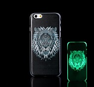Lion Pattern Glow in the Dark Hard Case for iPhone 6 Plus