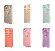 Diamond Fan-shaped Wave Transparent Clear TPU Cover Case for iPhone 6(Assorted Colors)