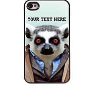 Personalized Phone Case - Sloth Design Metal Case for iPhone 4/4S