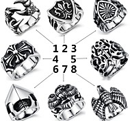 Super Man Cool Personality Rock Street Titanium Foundry Men's Ring