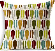 Coton/Lin Housse de coussin , Géométrique Moderne/Contemporain