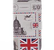 diseño de estilo británico de cuero de la PU caso de cuerpo completo para sony xperia t3