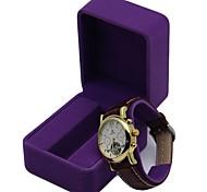 Fashion Noble Short-staple Cotton Style Watch Box (Purple)