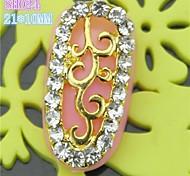 10pcs sh024 conception spéciale pleine ongles strass luxe 3d alliage nail art ongles diy beauté décoration des ongles manucure