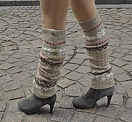 One Xuan Under-The-Knee Jacquard Weave  Socks for Keep Warm and Protect Leg