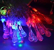 JIAWEN® 4M 20LEDs RGB LED Water Droplets String Lights Christmas String Light For Decoration (AC 110-220V)
