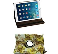 Flower Color 360 Rotating PU Leather Full Body Case with Stand for iPad Air 2/iPad 6(Assorted Color)