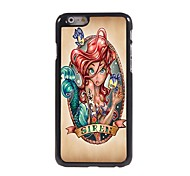 Beautiful Young Girl Design Aluminium Hard Case for iPhone 6