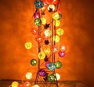 jiawen® 4m 20leds RGB-LED-Rattan-Ball-String-Licht Weihnachtsschnurlicht für die Dekoration (AC 110-220V)