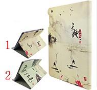 modelli di progettazione Tiandirenhe inchiostro Jiangnan stanno fondina sonno per ipad / 2/3/4
