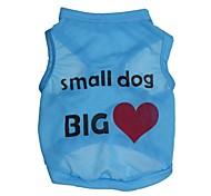 """lovely """"grande amor"""" padrão terylene colete para cães (cores sortidas tamanhos variados)"""