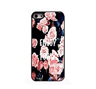 Elegant Pink Rose Design Aluminium Hard Case for iPhone 4/4S