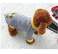 Cat / Dog Coat / Sweater Gray Winter / Spring/Fall Cartoon / Classic Keep Warm