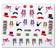 5PCS Colorful Cartoon Shoelace Pattern Top Grade Nail Art Stickers