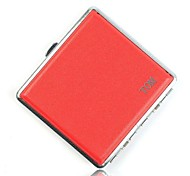 Personalized Red Metal Cigarette Case Leather  (20)