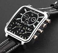 moda Panoptes Argus personalizzati - orologio cinturino in pelle a tre movimento quadrante piazza militare degli uomini