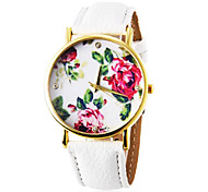 Personalized Fashionable Women's Watch Fashion Flower Pattern