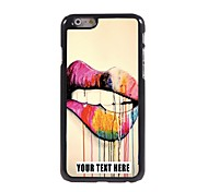 Personalized Phone Case - Lips Design Metal Case for iPhone 6
