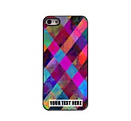 Personalized Phone Case - Colorful Lattice Design Metal Case for iPhone 5/5S
