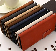 Wallet Style Squirrel Pattern PU Leather Full Body Case with Stand and Card Slot for iPhone 6 (Assorted Color)