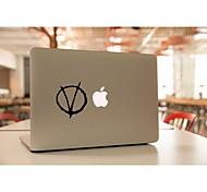 skinat extraíble bricolaje divertida forma ov tableta lindo y etiqueta engomada del ordenador portátil para que la tableta y el MacBook Air de 135 *