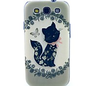 Black Butterfly Pattern TPU Soft Case for S3 I9300