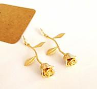 Z&X®  Korean Style Rose Long Drop Earrings (1 pair)