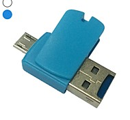 mini 2in1 Micro USB 2.0 Adattatore OTG lettore di card Micro SD TF per pc smart phone