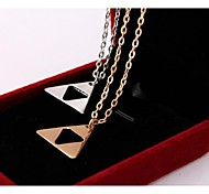 Golden / Silver Pendant Necklaces Alloy / Silver Plated / Gold Plated Wedding / Party / Daily / Casual / Sports Jewelry
