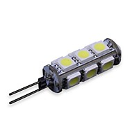 Decorativa G4 W 195-210lm LM 5500-6500K K Branco Natural 13 SMD 5050 DC 12 V G