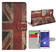 Retro Union Jack PU Leather Case Cover with Stand and Card Slot for Sony Xperia Z3 Compact D5803