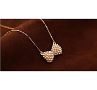 Love Is Your Fashion Bowknot Pearl Necklace