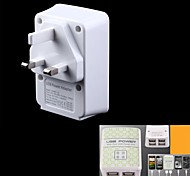 4-Port 4000mA USB Power Adapter/Charger (100~240V/UK Plug)