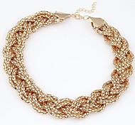 European Style Fashion Metal Braided Necklace
